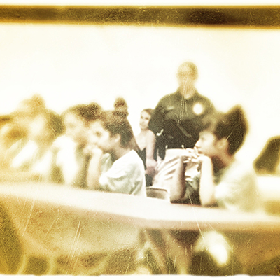 Faded image of a classroom