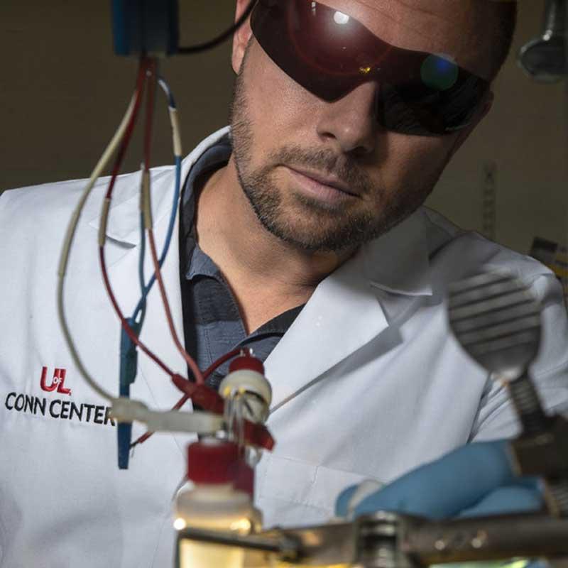 University of Louisville researcher Joshua Spurgeon