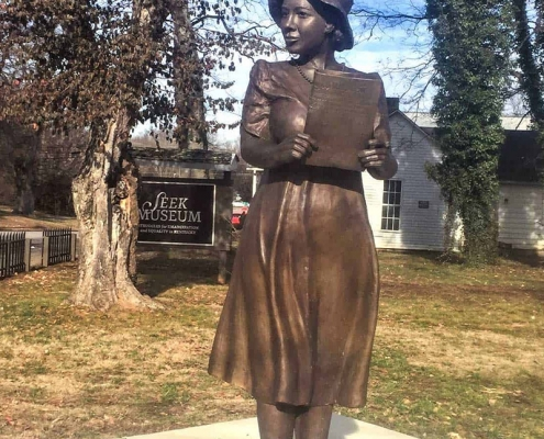 Civil Rights Trail Russellville SEEK Museum and Alice Allison Dunnigan statue
