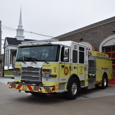 Exterior renovations to the Jeffersontown Fire and EMS facility included a new façade with a vintage-inspired look. (Courtesy of Luckett & Farley)