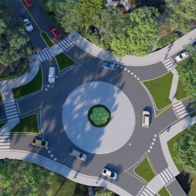 Eastern Parkway Transportation Study Roundabout