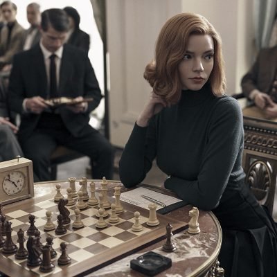 """(L To R) Anya Taylor as Beth Harmon in """"The Queen's Gambit."""" Cr. Charlie Gray/Netflix © 2020"""